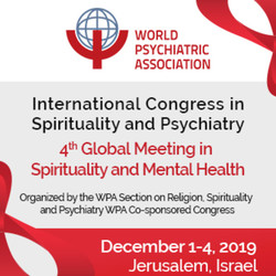 International Congress in Spirituality & Psychiatry, Jerusalem, Dec, 2019