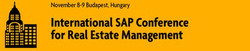 International Sap Conference for Real Estate Management 2017