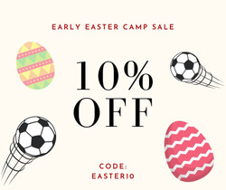 Intersoccer Easter Camps Discount 10%