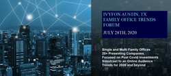 Invitation July 28th Austin, Tx Hybrid Family Office and Institutional Investor Forum