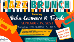 Jazz Brunch featuring Rohn Lawrence and Friends, Sept 19, at Madison Beach Hotel, Madison, Ct
