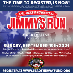 Jimmy's Gold Star Memorial Run - The Time to Register is Now!