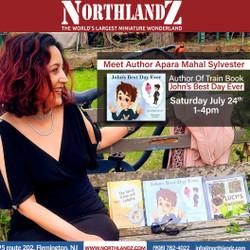 John's Best Day Ever Book Signing Day by Apara Mahalsylvester at Northlandz