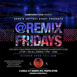 Katra Lounge Friday Hip Hop vs Reggae® free on Guest List