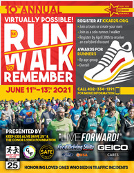 Keep Kids Alive Drive 25 Live Forward! 5k Run-Walk to Remember