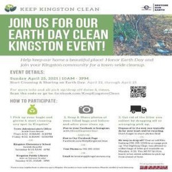 Keep Kingston Clean: Town Wide Earth Day Trash Cleanup