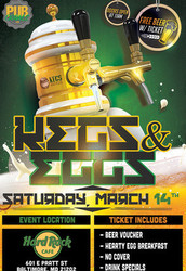 Kegs n' Eggs St Paddy's Kickoff Party at Hard Rock Baltimore