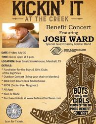 Kickin' It at the Creek- Benefit concert featuring Josh Ward