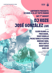 Labyrinth Presents Dj Koze and Co at Tofte Manor