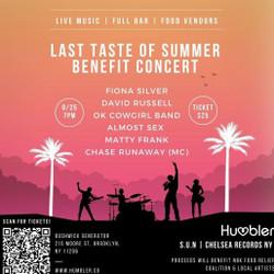Last Taste of Summer Benefit Concert