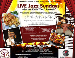 "Live Classy Jazzy Sunday with Keith ""Doc"" Samuels and Friends"