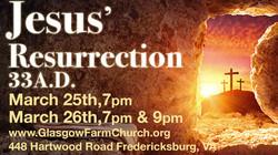 "Live Outdoor Easter Presentation Called ""jesus' Resurrection 33ad"""