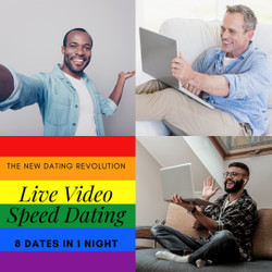 Live-matched Virtual Gay Speed Dating - Chicago 9/23