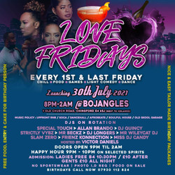 Love Fridays at Bojangles – Your Ultimate Friday Night Out in Chingford!