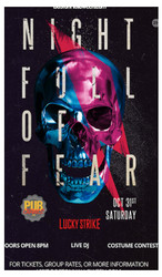 "Lucky Strike Club ""Night Full of Fear"" Halloween Party - October 31, 2020"