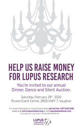 Lupus Ontario Dinner Dance and Silent Auction, February 29, 2020