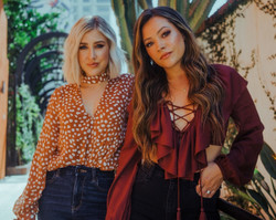Maddie & Tae at the Silver Lake Twin Drive-In on July 25, 2021