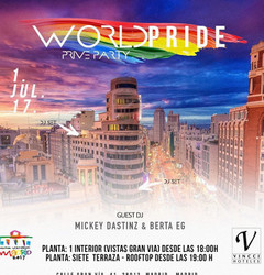 Madridbabel: World Pride 2017 – Private Party (Saturday, July 1st)