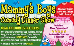 Mammy's Boys Dinner Show - Kidderminster 27/03/2020