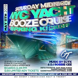 Manhattan Saturday Midnight Yacht Party Booze Cruise at Skyport Marina