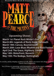 Matt Pearc & The Mutiny at The Grace in Highbury - London