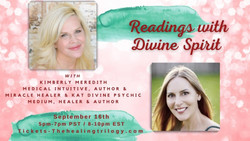 Mediumship and Medical Intuitive Readings with Divine Spirit September 16 Thehealingtrilogy.com