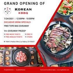 Mgd Korean Bbq Grand Opening