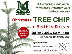 Montroyal Christmas Tree Chip + Bottle Drive