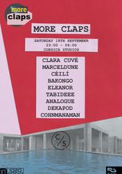 More Claps with Clara Cuve, MarcelDune, Ceili, Bakongo(Roska), Eleanor, Tabideee, Analogue, Dekapod