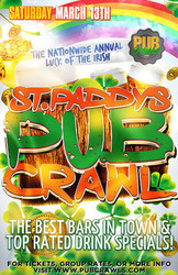 "Nashville St Patrick's Day ""Luck of the Irish"" Bar Crawl - March 2021"