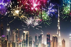 New Year' Eve at Original Wings & Rings with Burj Khalifa viewing tables.