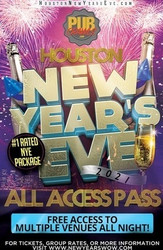 New Year's Eve All Access Bar Crawl Pass Houston 2021