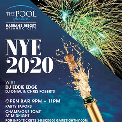 New Years Eve Atlantic City Harrahs Resort Pool Party 2020