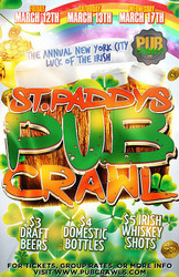 "New York City St Patrick's Day ""Luck of the Irish"" 3-Day Bar Crawl - March 2021"