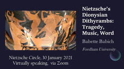 Nietzsche Circle Online Lecture: Dr Babette Babich on the Birth of Tragedy