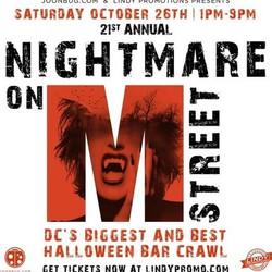 Nightmare on M Street Washington Dc Halloween Bar Crawl 2019