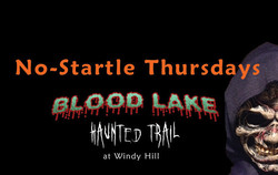 No-startle Thursday at Blood Lake Haunted Trail