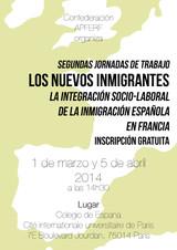 Nuevas Jornadas de Trabajo para la integración laboral y socio-cultural de los españoles en Francia.