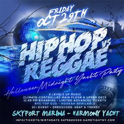 Ny Hip Hop vs Reggae® Halloween Friday Midnight Skyport Marina Harmony Yacht