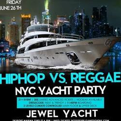 Ny Hip Hop vs. Reggae® Summer Midnight Yacht Party at Jewel Yacht