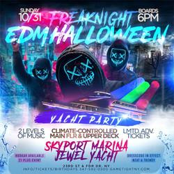 Nyc Freaknight Edm Halloween Sunday Sunset Cruise Skyport Marina Jewel