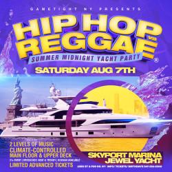 Nyc Hip Hop vs Reggae® Midnight Summer Cruise Skyport Marina Jewel Yacht