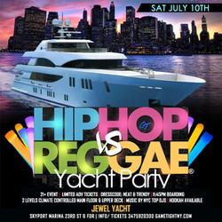 Nyc Hip Hop vs Reggae® Summer Midnight Cruise Skyport Marina Jewel Yacht