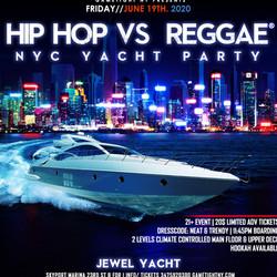 Nyc Hip Hop vs. Reggae® Summer Midnight Yacht Party at Jewel