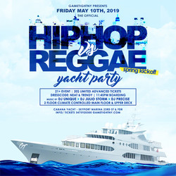 Nyc Hip Hop vs. Reggae Yacht Party at Skyport Marina Cabana Yacht 2019