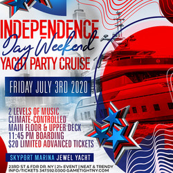 Nyc Independence Day Weekend Yacht Party at Skyport Marina