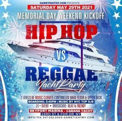 Nyc Mdw Hip Hop vs Reggae® Sunset Cruise Skyport Marina Cabana Yacht