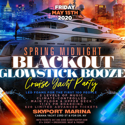 Nyc Spring Midnite Glowsticks Blackout Booze Cruise Yacht Party