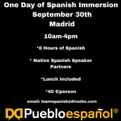 One Day Spanish Immersion Event-6 Hours Spanish Conversation!
