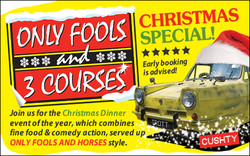 Only Fools and 3 Courses Xmas Special Dinner Camberley 04/12/2020